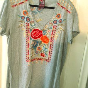 Johnny Was (JWLA) Embroidered t-shirt